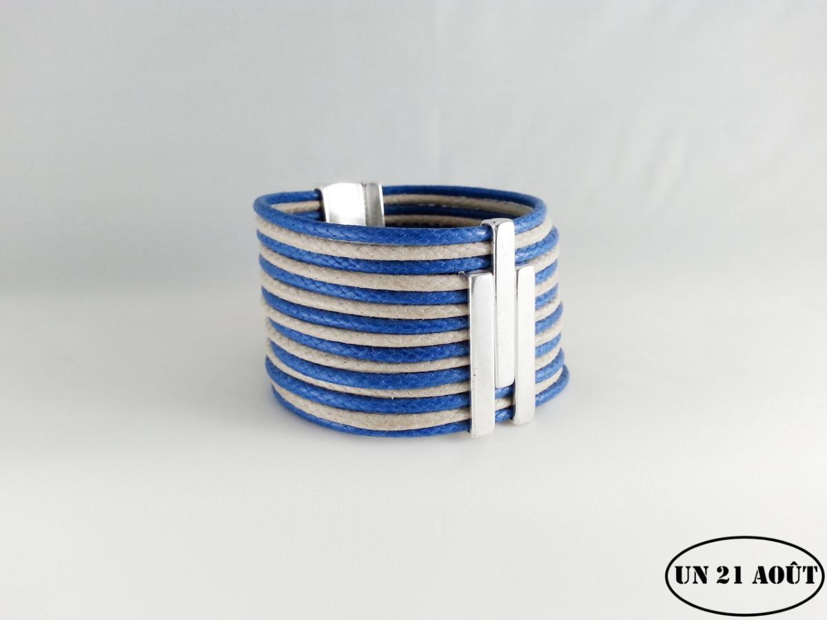 bracelet femme bleue